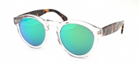Illesteva - Crystal Tortoise Green Mirror