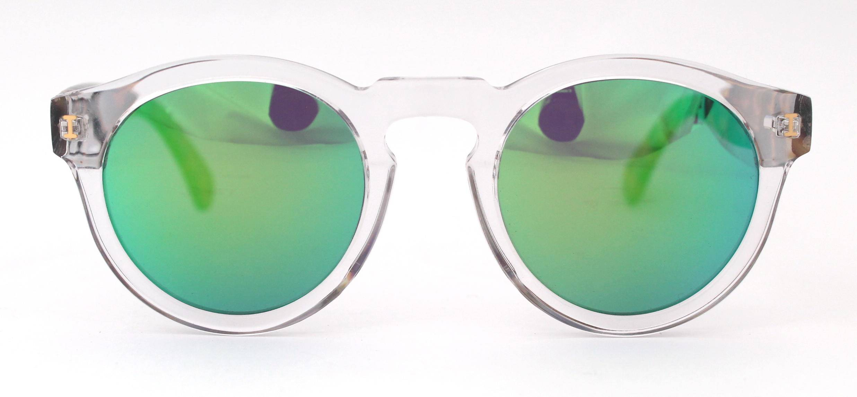 Illesteva - Crystal/Tortoise Green Mirror